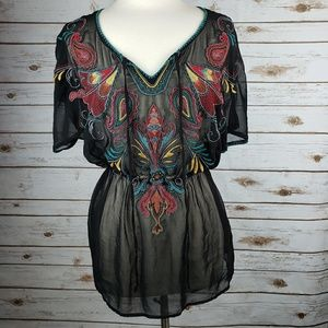 4/$15 FOREVER 21 embroidered coverup size MEDIUM